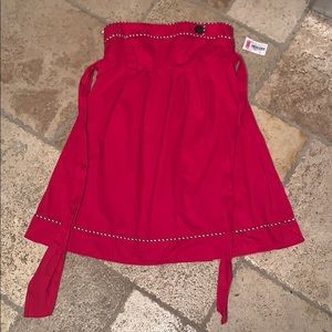 Dresses & Skirts - Red, empire waist, babydoll dress
